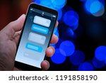 chatbot conversation with... | Shutterstock . vector #1191858190