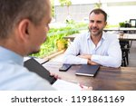 smiling mature candidate... | Shutterstock . vector #1191861169