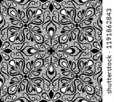 seamless lace pattern  | Shutterstock .eps vector #1191862843