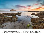 sunset at cwyfan church on... | Shutterstock . vector #1191866836