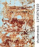 rusty painted metal. abstract... | Shutterstock . vector #1191876310