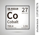 cobalt chemical element with... | Shutterstock .eps vector #1191878176