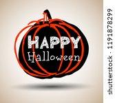 halloween. vector pumpkin.... | Shutterstock .eps vector #1191878299