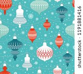 seamless pattern with christmas ... | Shutterstock .eps vector #1191881416