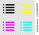 simple list menu icon. colored...