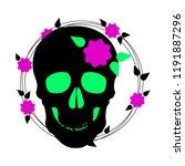 halloween. vector skull. vector ... | Shutterstock .eps vector #1191887296