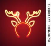 retro neon christmas sign.... | Shutterstock .eps vector #1191888646