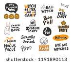 halloween sticker set for... | Shutterstock .eps vector #1191890113