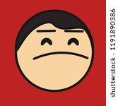 pictogram with arrogant man... | Shutterstock .eps vector #1191890386
