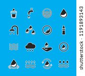 water icons set isolated on...   Shutterstock .eps vector #1191893143