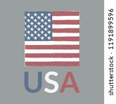 usa flag with grunge texture.... | Shutterstock .eps vector #1191899596