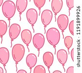 seamless pattern with pink... | Shutterstock .eps vector #1191899926