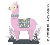 cute vector animal  cartoon... | Shutterstock .eps vector #1191900703