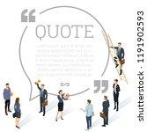 testimonials round quote shape... | Shutterstock .eps vector #1191902593