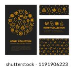 set of templates with honey ... | Shutterstock .eps vector #1191906223