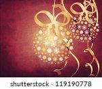 illustration of snowflake balls ... | Shutterstock . vector #119190778