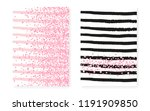pink glitter sequins with dots. ... | Shutterstock .eps vector #1191909850