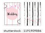 bridal shower card with dots... | Shutterstock .eps vector #1191909886
