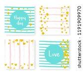 wedding glitter confetti on... | Shutterstock .eps vector #1191909970