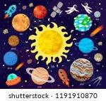 vector illustration of space ... | Shutterstock .eps vector #1191910870