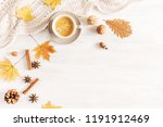 autumn or winter cozy... | Shutterstock . vector #1191912469