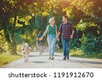 dog with owners spend a day at... | Shutterstock . vector #1191912670