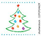 like childs drawing christmas... | Shutterstock .eps vector #1191914629