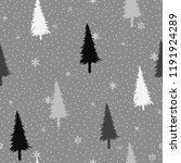 seamless pattern with christmas ... | Shutterstock .eps vector #1191924289