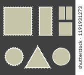 blank post stamps  vector... | Shutterstock .eps vector #1191931273