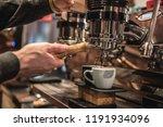 barista preparing coffee via... | Shutterstock . vector #1191934096