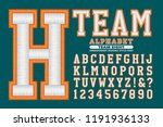 a 3d embroidery style sports... | Shutterstock .eps vector #1191936133