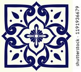 delft dutch tile pattern vector ... | Shutterstock .eps vector #1191936679
