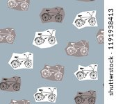 hand drawn bicycles on white... | Shutterstock .eps vector #1191938413