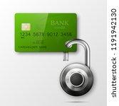 credit card safe combination...   Shutterstock .eps vector #1191942130
