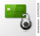 credit card safe combination...   Shutterstock .eps vector #1191942133