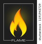 flammable symbol. icon with... | Shutterstock .eps vector #1191943729