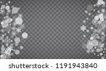 blizzard snowflakes on... | Shutterstock .eps vector #1191943840
