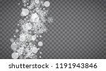 isolated snowflakes on... | Shutterstock .eps vector #1191943846