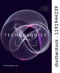 quantum computing background.... | Shutterstock .eps vector #1191944239