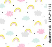 pastel seamless pattern with... | Shutterstock .eps vector #1191945466
