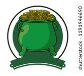 irish pot emblem | Shutterstock .eps vector #1191946690