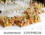 the buffet at the reception....   Shutterstock . vector #1191948136