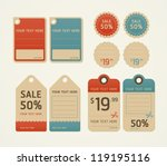 price tags retro color design ... | Shutterstock .eps vector #119195116