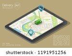 city map navigation route ... | Shutterstock .eps vector #1191951256