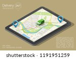 city map navigation route ... | Shutterstock .eps vector #1191951259