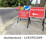 many warning sign for...   Shutterstock . vector #1191951349
