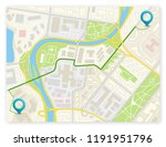 city map navigation route ... | Shutterstock .eps vector #1191951796