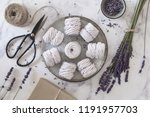 flat lay with a plate of home... | Shutterstock . vector #1191957703