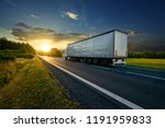 Truck Driving On The Asphalt...