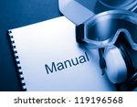 manual with helmet  goggles and ... | Shutterstock . vector #119196568